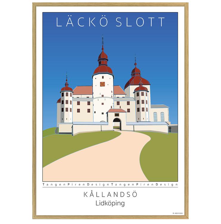 Poster Läckö Slott med ekram