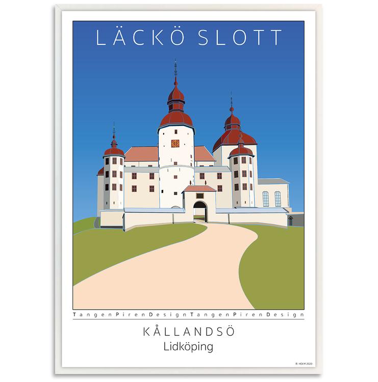 Poster Läckö Slott med vit ram