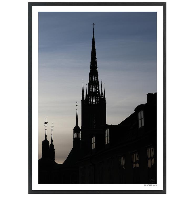 Poster Riddarholmskyrkan med svart ram