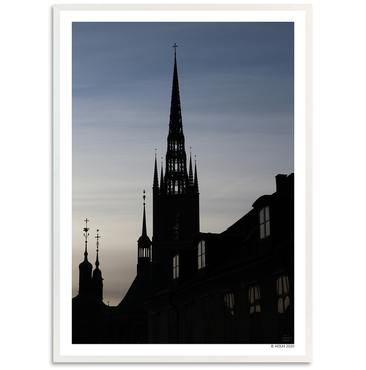 Poster Riddarholmskyrkan med vit ram