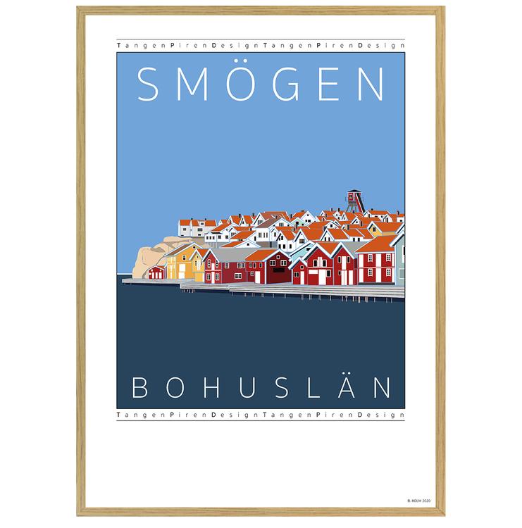 Poster Hamnen Smögen med ekram