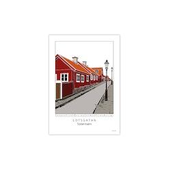 Poster Lotsgatan Södermalm 30x42