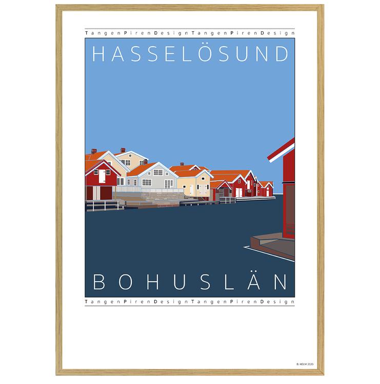 Poster Hasselösund med ekram