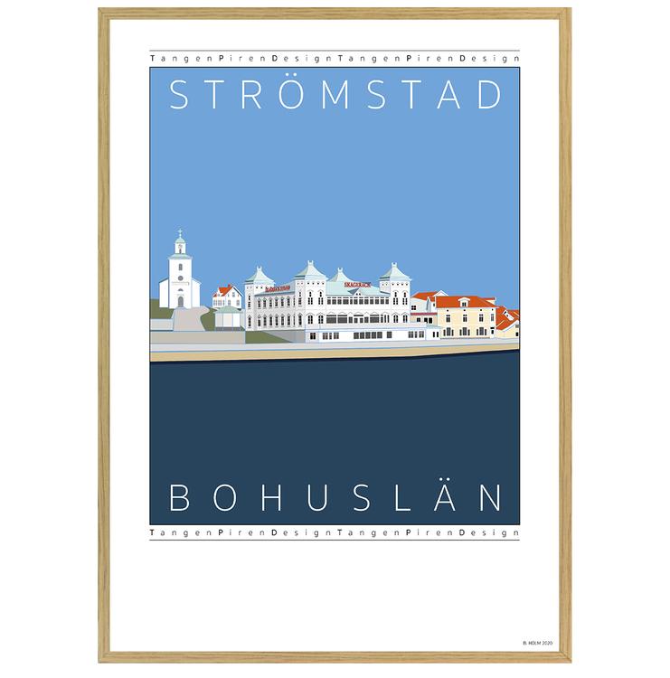 Poster Strömstads Hamn med ekram