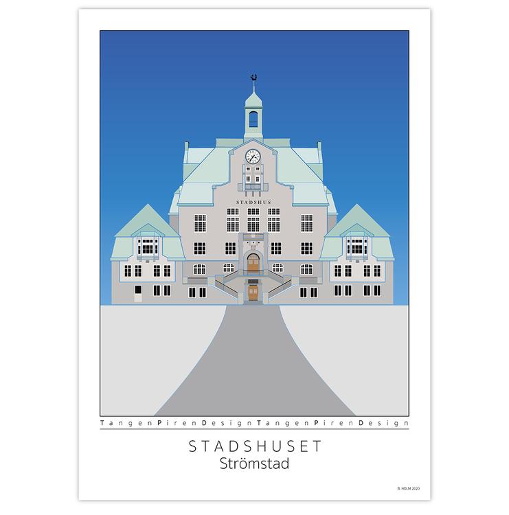 Poster Strömstads Stadshus utan ram