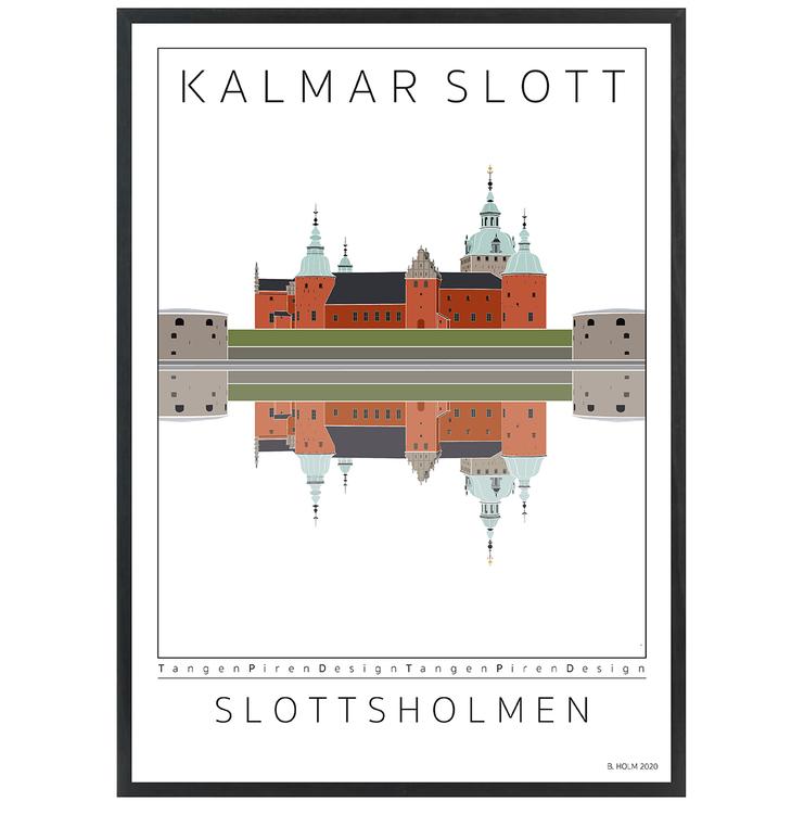 Poster Kalmar Slott med svart ram