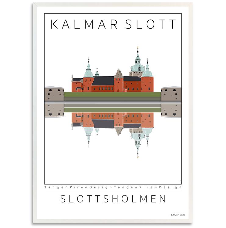 Poster Kalmar Slott med vit ram