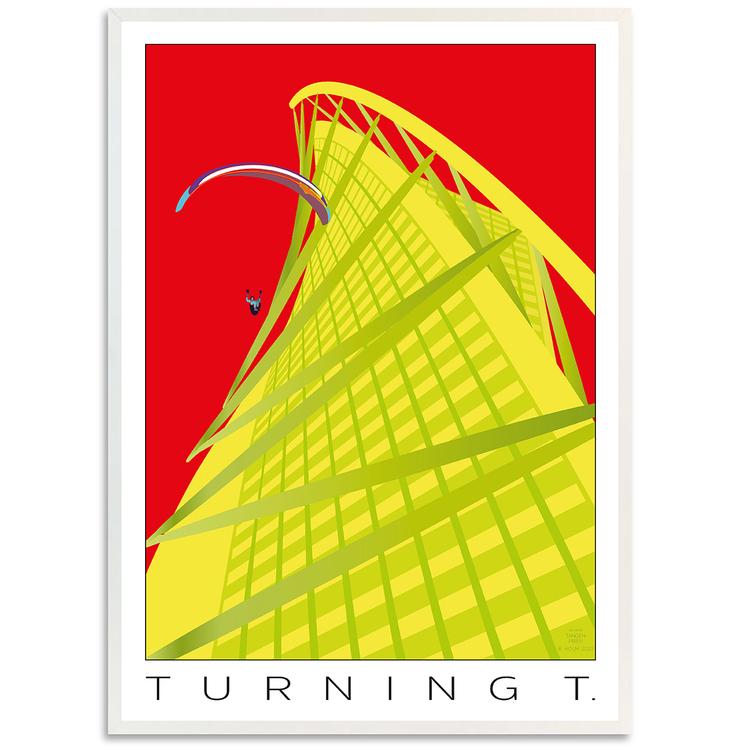 Poster Turning Torso med vit ram