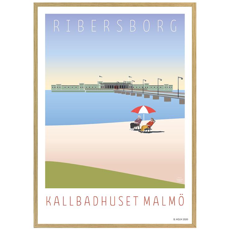 Poster Ribersborg med ekram