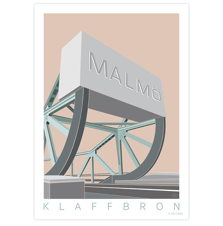 Poster Klaffbro Malmö utan ram