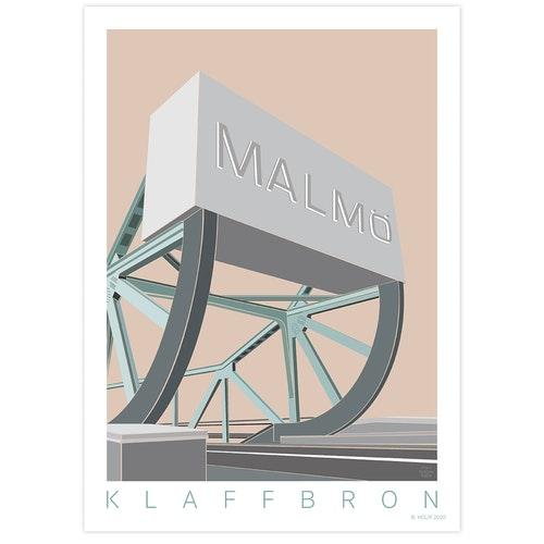 Poster Klaffbro Malmö