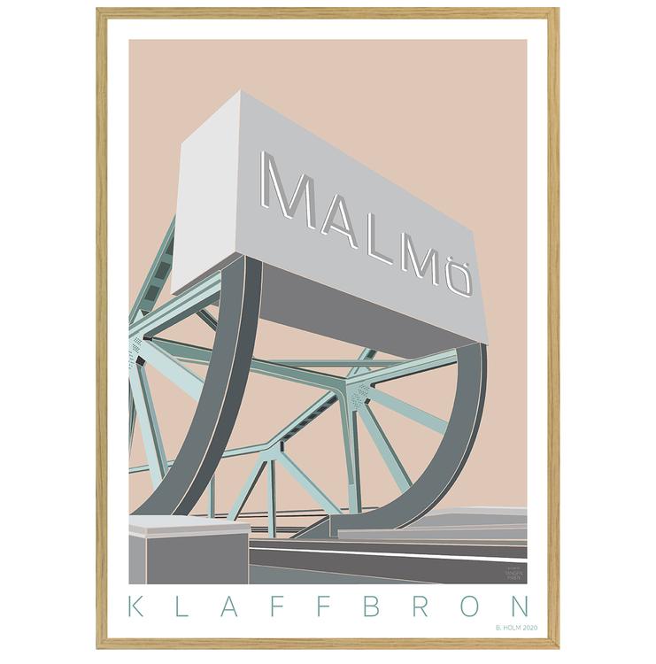 Poster Klaffbro Malmö med ekram