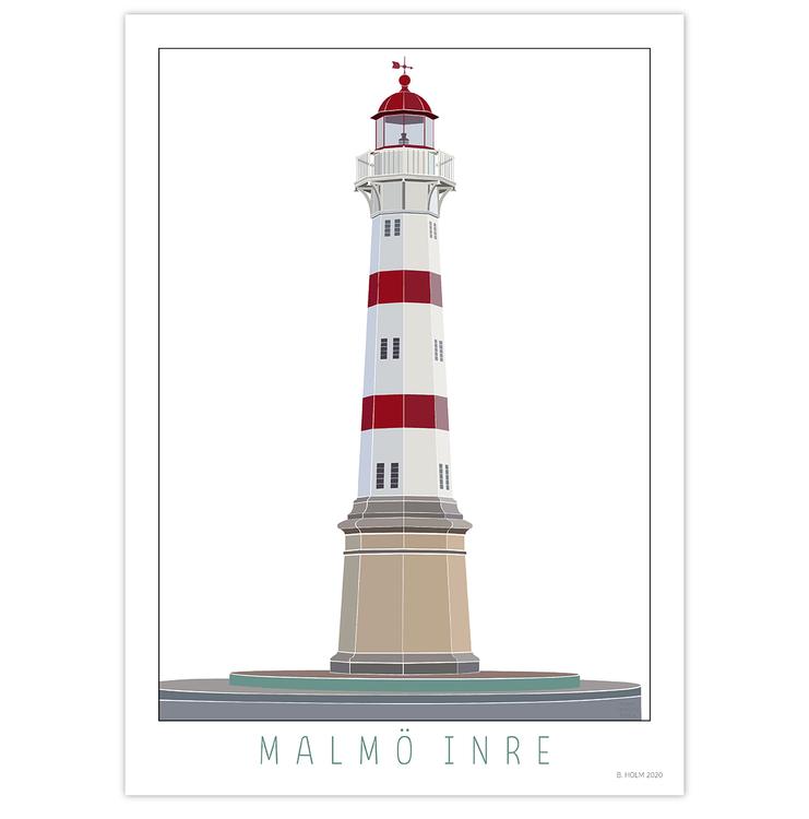 Poster Fyr Malmö Inre utan ram
