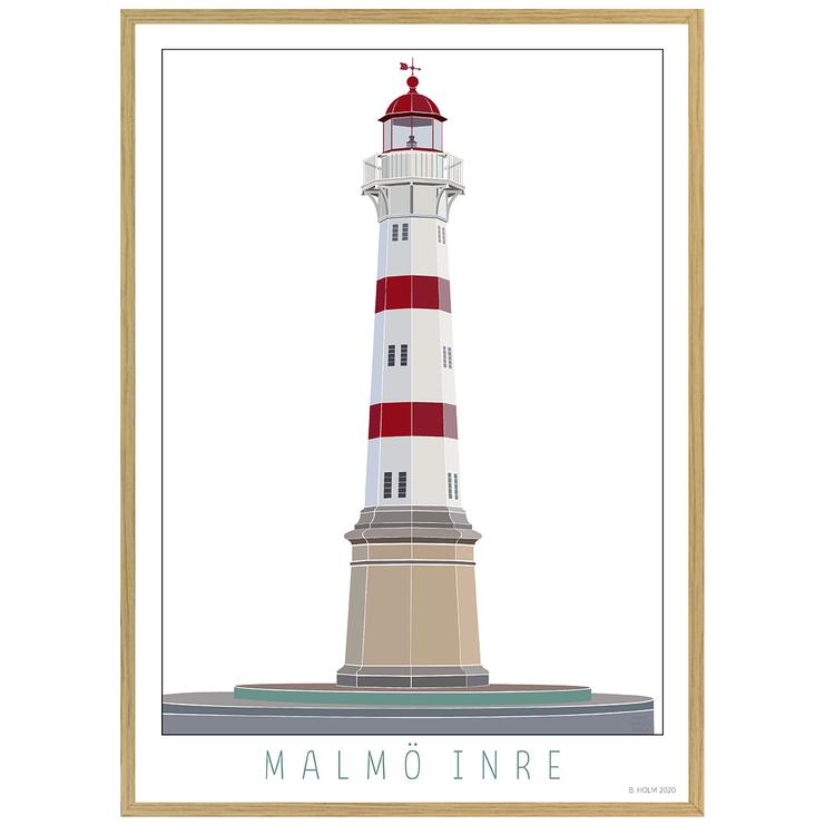 Poster Fyr Malmö Inre med ekram