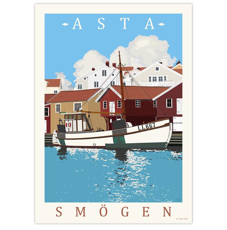 Poster Asta Smögen utan ram