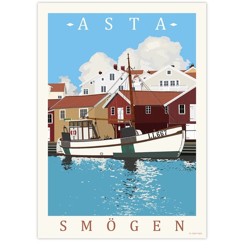 Poster Asta Smögen