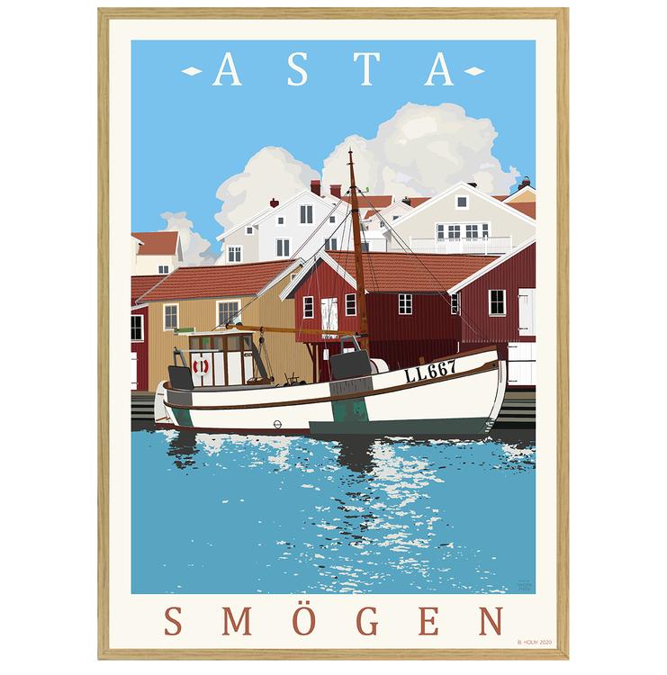 Poster Asta Smögen med ekram