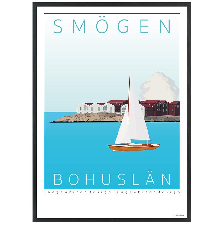 Poster Kleven Smögen Svart ram
