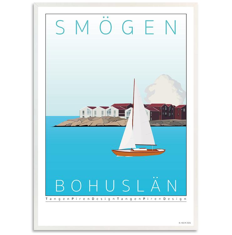 Poster Kleven Smögen Vit ram