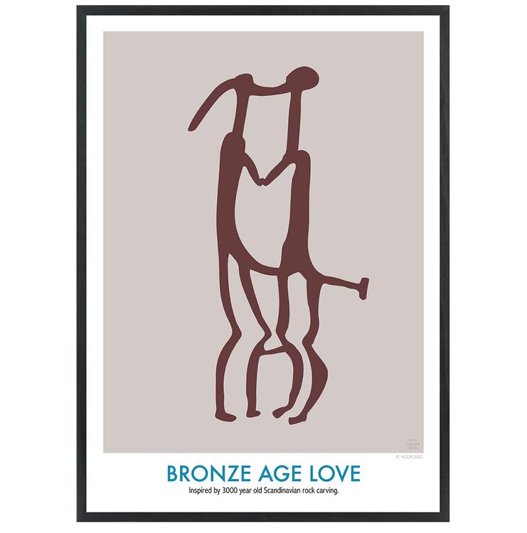 Poster Bronze Age Love med Svart Ram