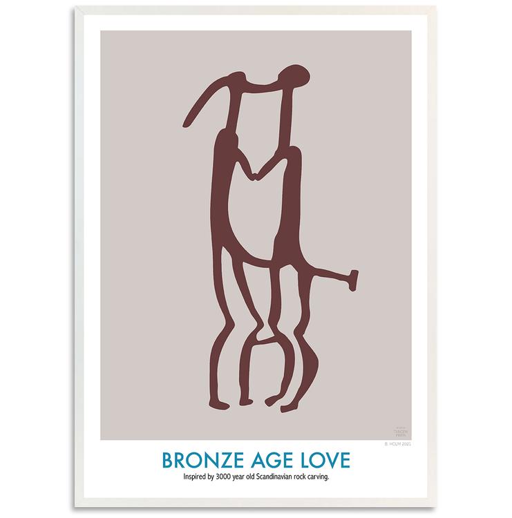 Poster Bronze Age Love med Vit Ram