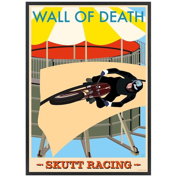 Poster Skutt Racing med svart ram