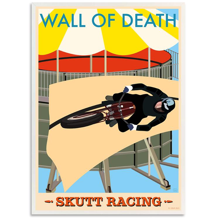 Poster Skutt Racing med vit ram
