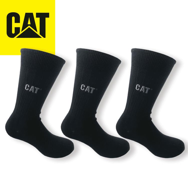 Strumpor 3-Pack, svarta CAT