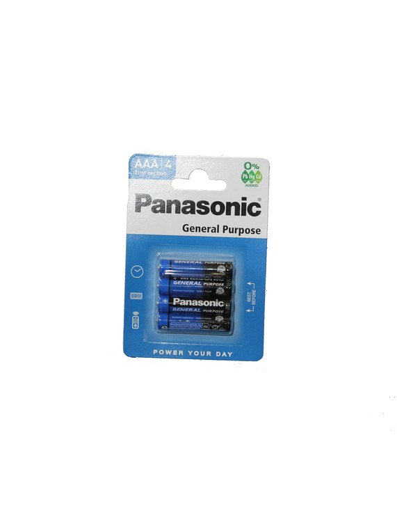 Batterier Panasonic, AAA 4-Pack
