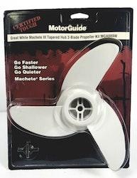 MotorGuide Propeller 3-bladig Machete Vit
