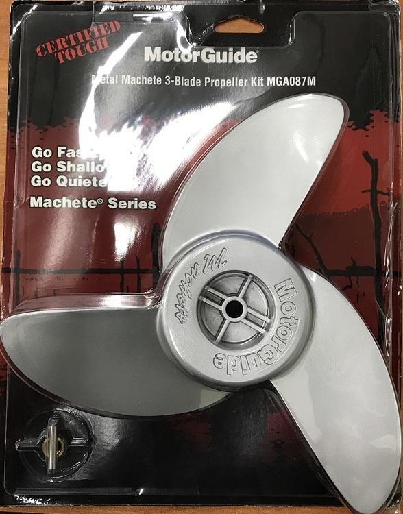 Motorguide propeller 3-bladig Machete Aluminium