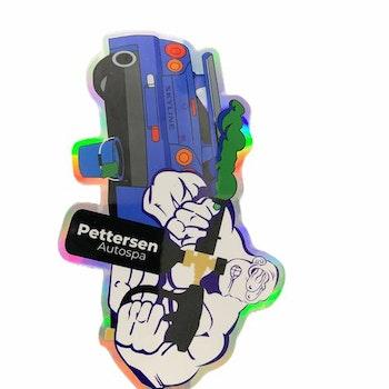 Pettersen Autospa Holografisk Klistermerke