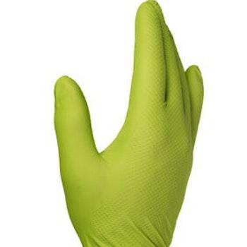 Finixa Super Grip Nitrile Engangs hansker Lime green