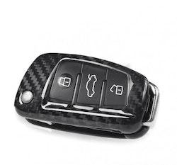 Kolfiber kåpa/skal till Audi nyckel (A1, A3, A6, Q3, TT, samt S & RS modeller)