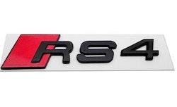 RS4 - Audi RS4 blanksvart emblem bak