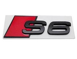 S6 - Audi S6 blanksvart emblem bak