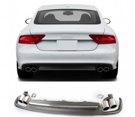 A7 - S7 diffuser med ändrör till Audi A7 4G med S-line stötfångare