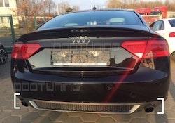 A5 2008-2012 - S-line diffuser till icke S-line Audi A5 B8 Sportback - enkelt ändrör vänster + höger