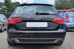 A4 - S-line diffuser till icke S-line Audi A4 B8 enkelt ändrör vänster + höger
