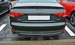 A4 - Bakre diffusersplitter & sidosplitter - Audi A4 B9 S-line