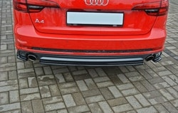 A4 - Bakre diffuser splitter - Audi A4 B9 Avant S-line