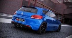 SCIROCCO - Bakre diffuser VW Scirocco III R med 2 ändrör