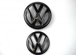 GOLF -  VW Golf MK7 R Blanksvart emblem fram & bak