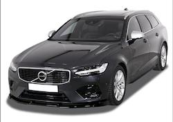 V90/S90 - Snygg och diskret spoilerläpp nedre fram passande Volvo V90/S90 2016+