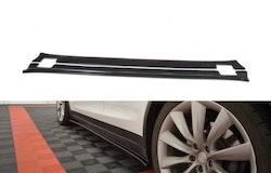 TESLA - Sidokjol splitter  - Tesla Model X