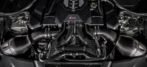 V2 BMW F90 M5 – BLACK CARBON INTAKE WITH SHROUD SET