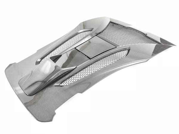 570S 3.8L - CARBON COUPE REAR ENGINE COVER (WITH EXHAUST SCOOP)