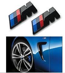 BMW M logo emblem skärmar Svart