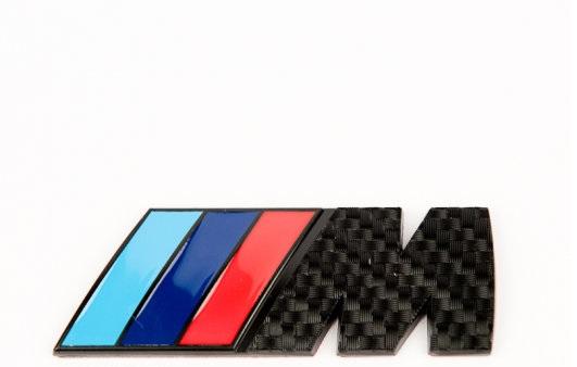 BMW M logo emblem Baklucka Svart/Kolfiber