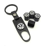 Volkswagen Ventilhattar Svart med Nyckelring